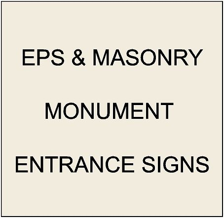1. - K20001 - EPS Monument and Entrance Signs for Apartments, Condos and Other Residential Communities