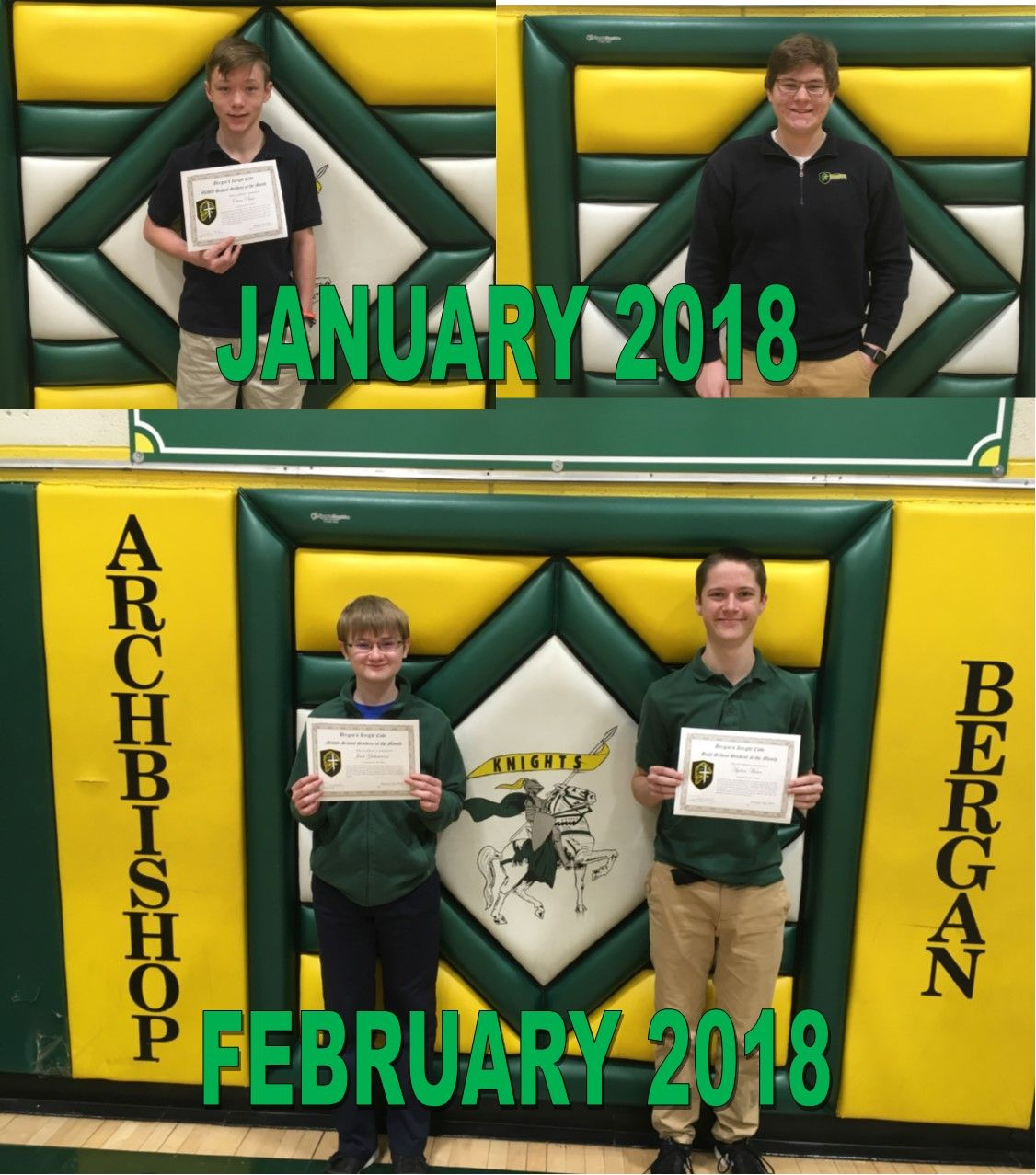 January & February - Knight's Code Student of the Month