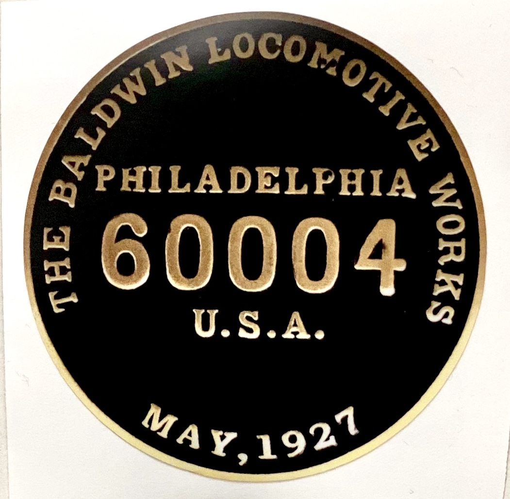 Builders Plate Vinyl Sticker