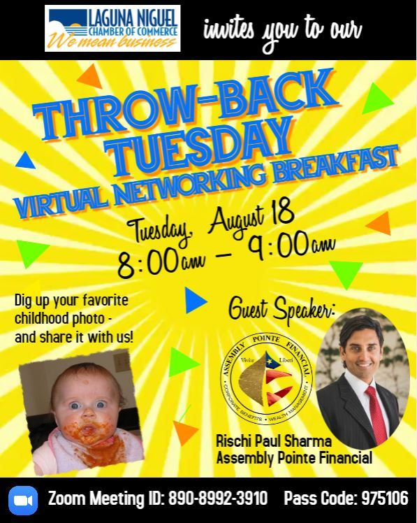 """Throw-Back Tuesday"" Virtual Networking Breakfast"