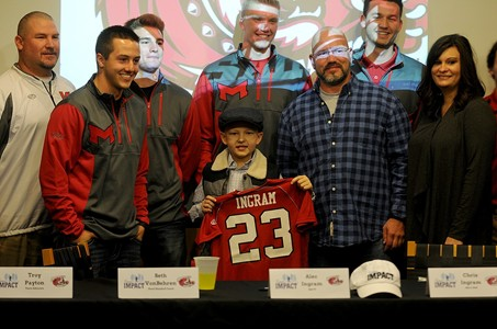 Saints Baseball Team Signs Alec from Team IMPACT
