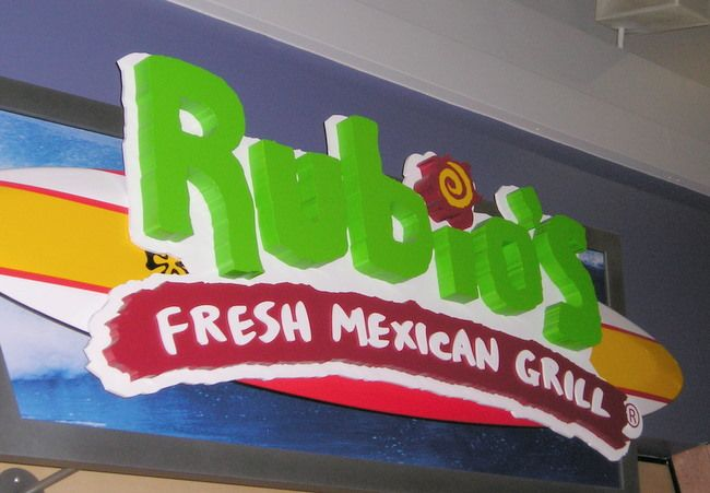 Q25811  - Large Sign for Rubio's Fresh Mexican Grill