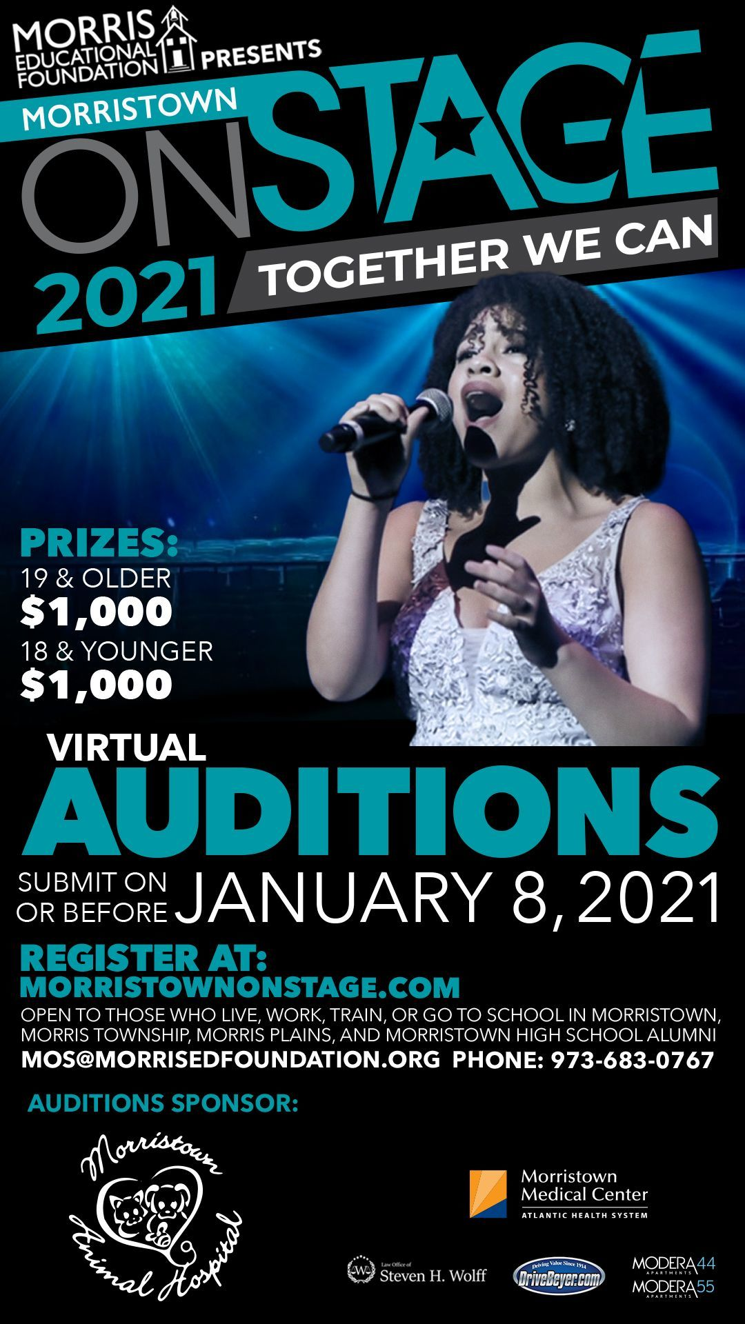Morristown ONSTAGE Audition Registration Opens