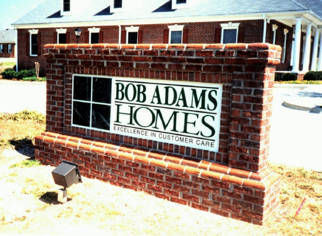 K20034 - Brick Monument Sign for Custom Homes