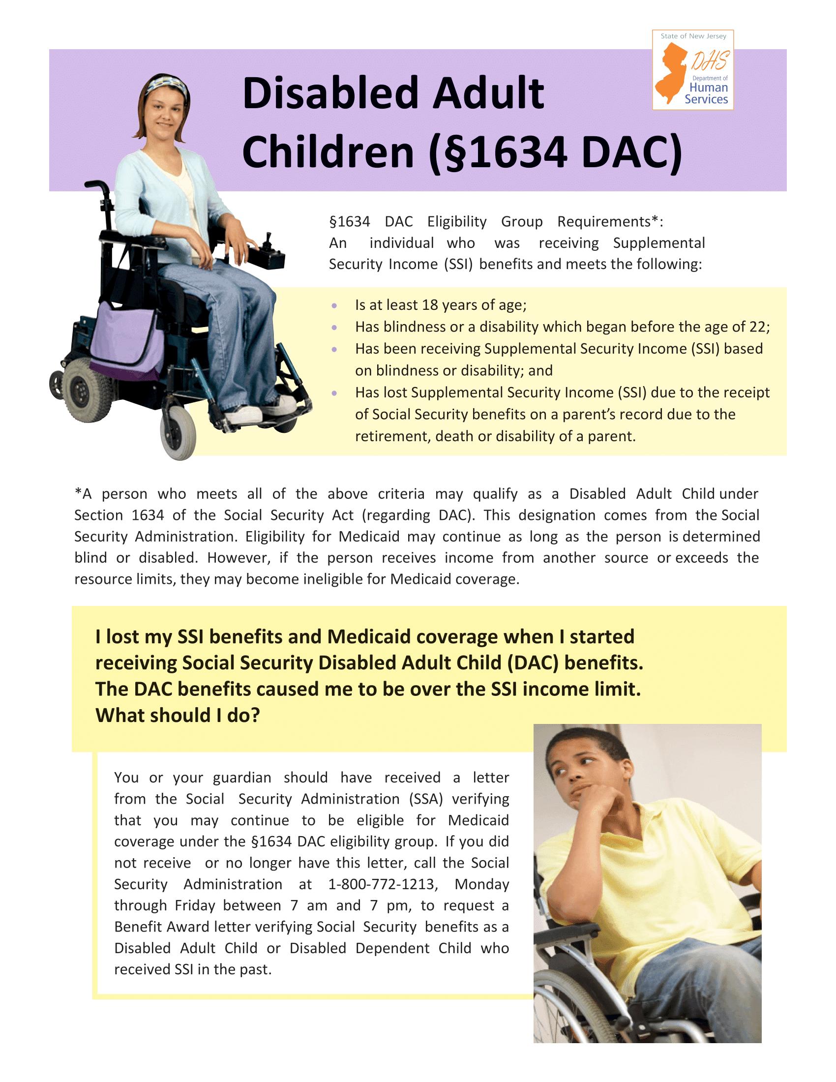 Disabled Adult Children (Regarding Medicaid)