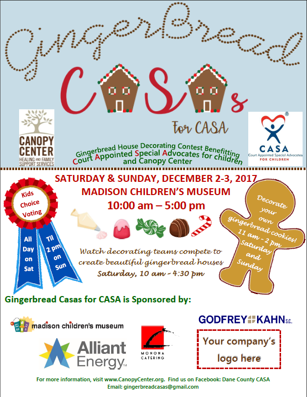 Gingerbread CASAs for CASA  sc 1 st  Canopy Center & Canopy Center : News u0026 Events : Events : Gingerbread CASA