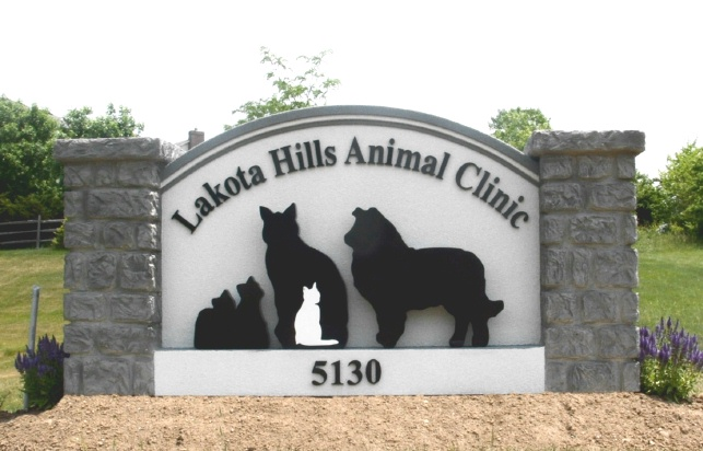 BB11710 – Entrance Monument Sign to Animal Clinic