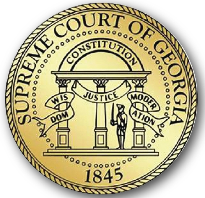 GP-1090 - Carved Plaque of the Seal of the Supreme State Court of Georgia,  Painted Gold Metallic