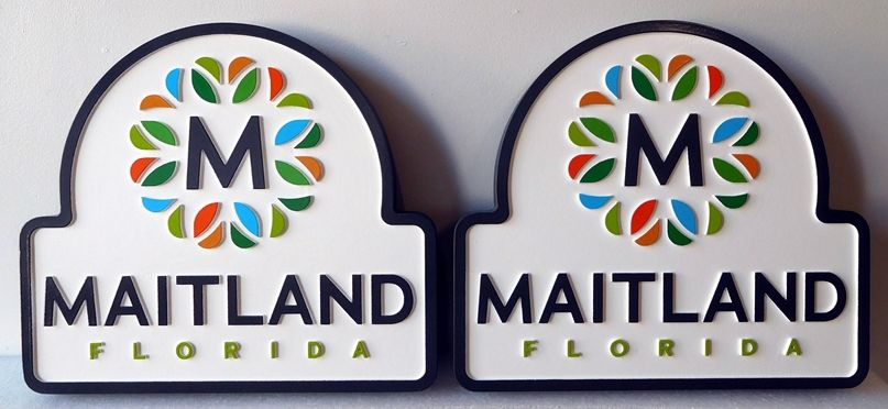 X33090A - Two 2.5-D Full-Color Wall Plaques of the Seal of the City of Maitland, Florida