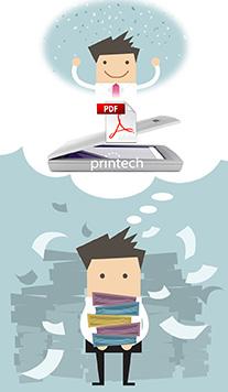 Scan Paperwork save as a PDF
