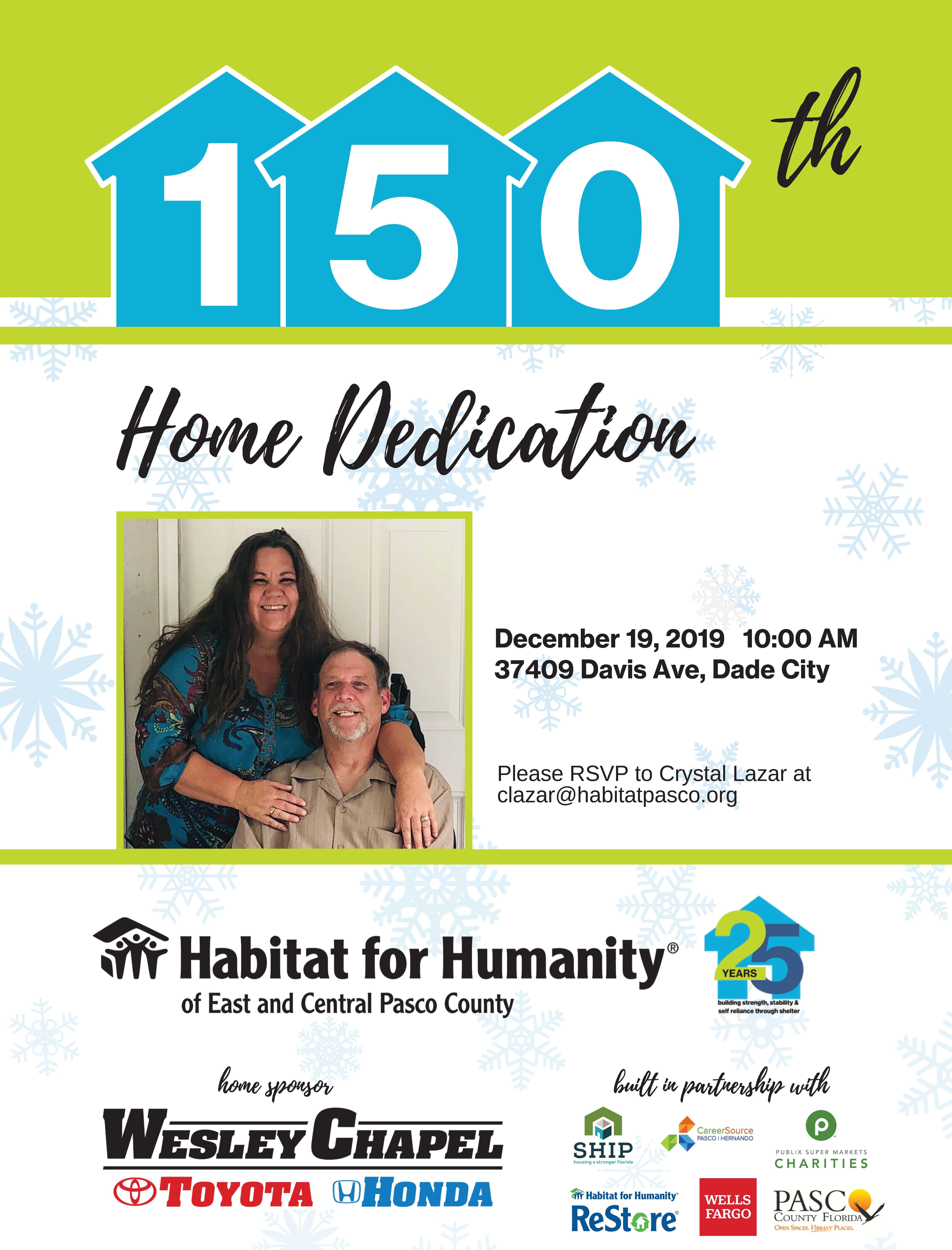 150th home dedication