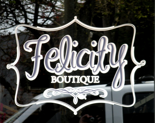 Felicity Boutique Window Graphic