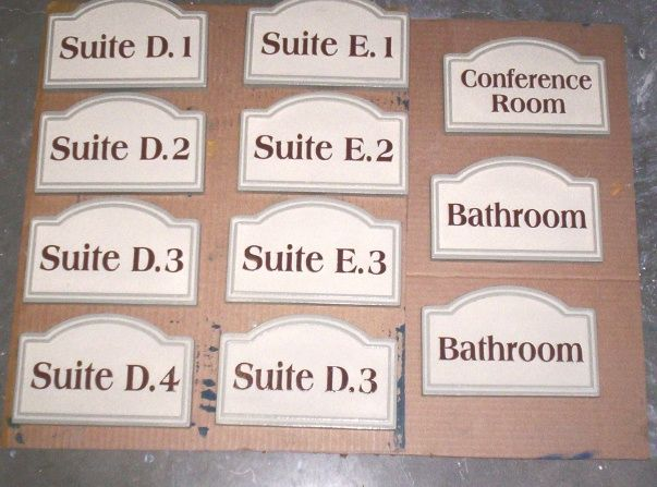 SB28851 - Indoor Carved Suite Number and Conference Room Signs, 2.5-D