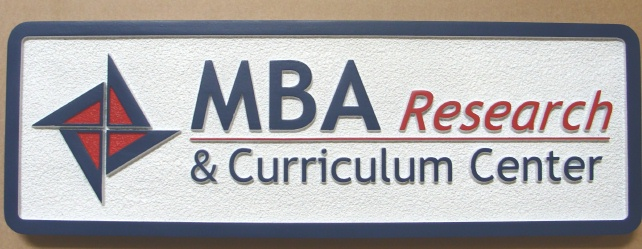 C12032 - Carved HDU Sign for MBA Research Center