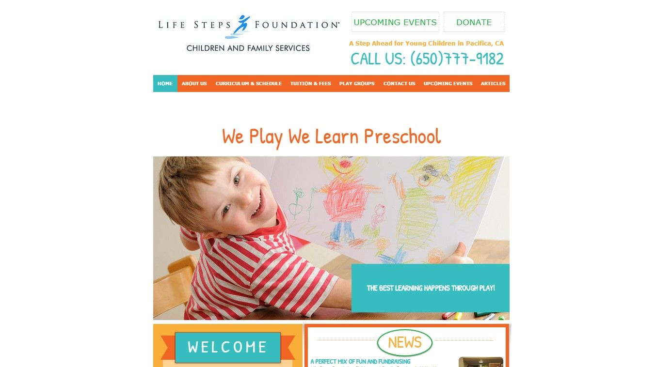 We Play We Learn Website