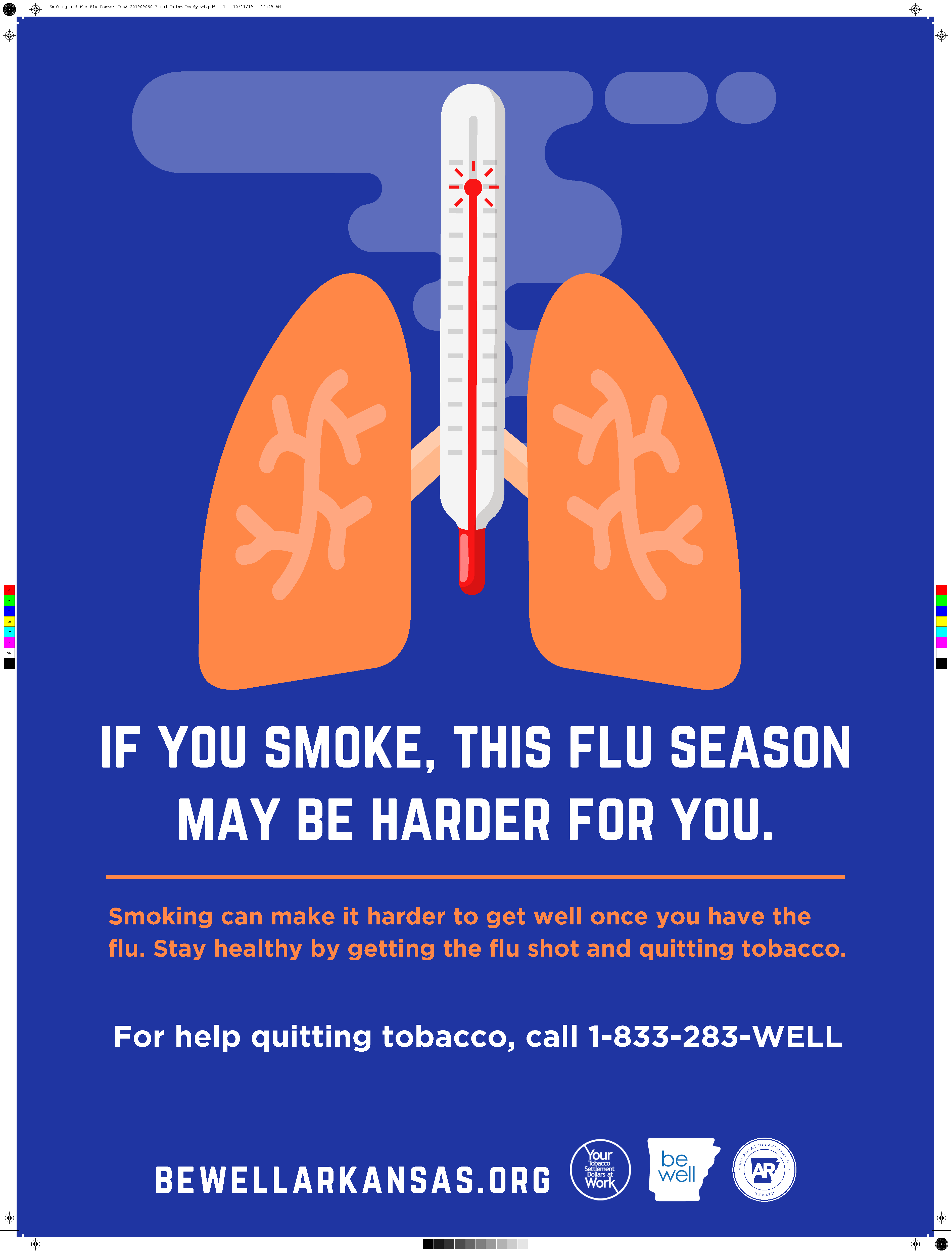 Be Well Flu and Tobacco Poster