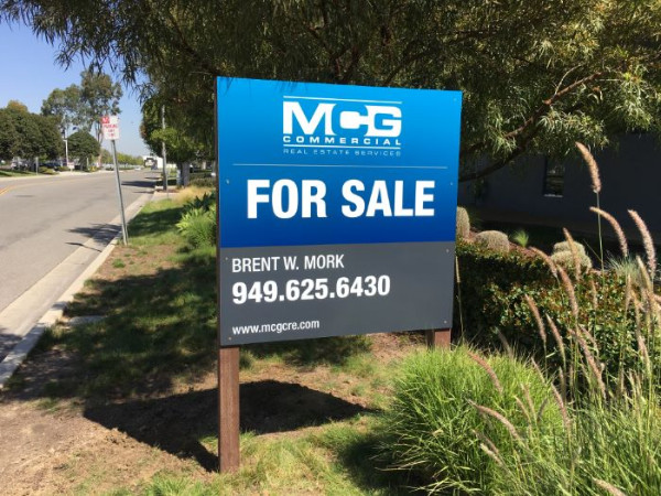 Commercial Property For Sale Signs in Orange County CA