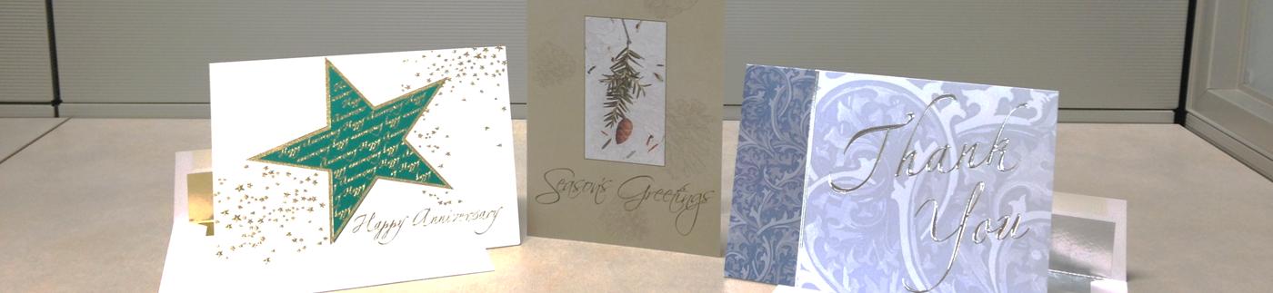 Greeting Cards Displayed on Desk