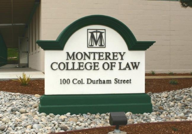 A10157 - College of Law Entrance Sign