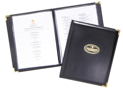 toronto menu printing, print quality menus, printed menus, custom menus, affordable menus, menu printing service, leather bound menu printing