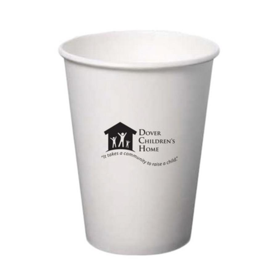 12 Oz. Paper Hot Cup (Petite Line) (White)