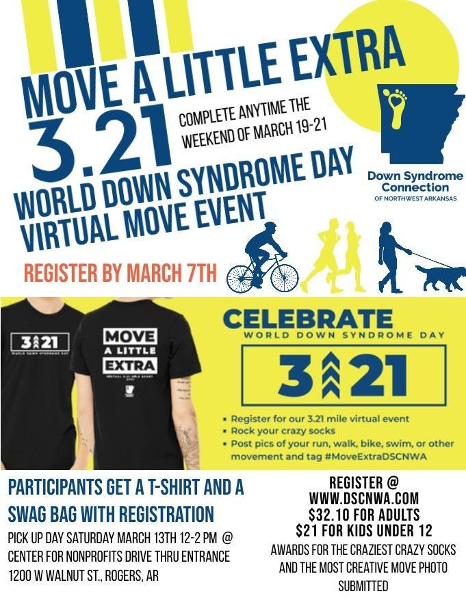 World Down Syndrome Day Move A Little Extra 3.21 Virtual Event