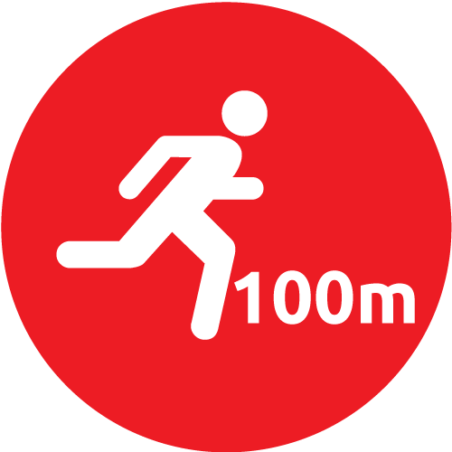 100 Meter Walk or Run