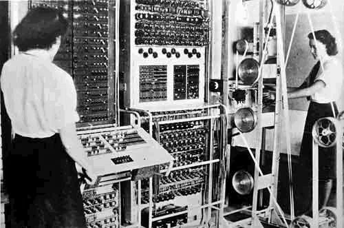 1944: Colossus activated by Bletchley Park.