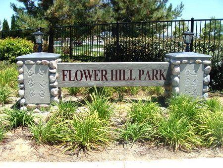 M6431 - Concrete Entrance Monument Sign for Community Park