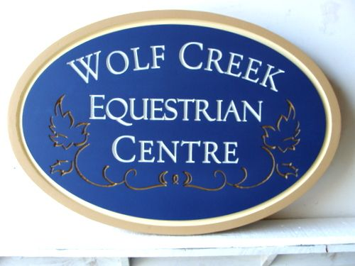 P25192 - Custom Carved HDU Equestrian Centre Entrance Sign