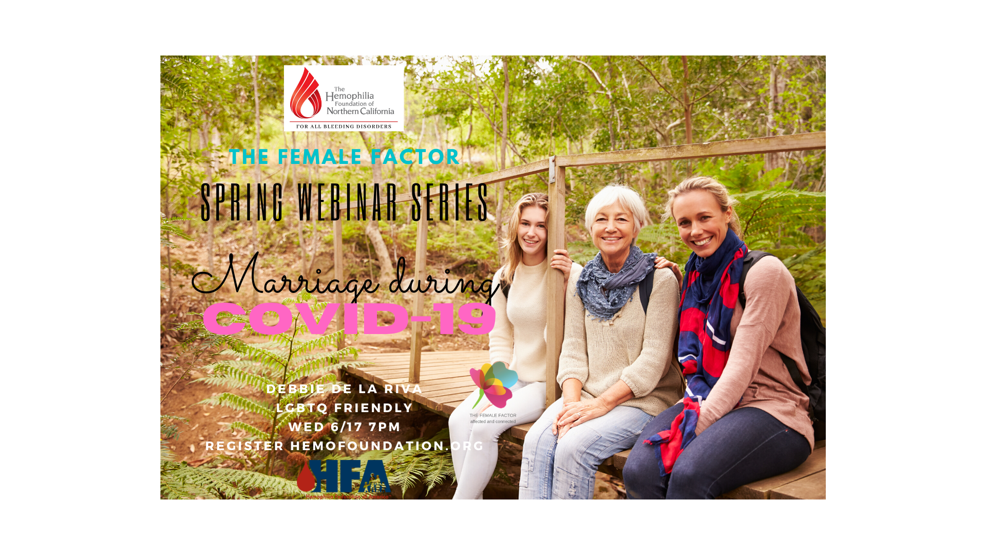 The Female Factor Spring webinar series: Marriage and Covid-19 with Debbie de la Riva