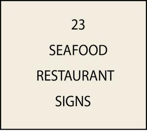L21900 - Seafood Restaurant Signs