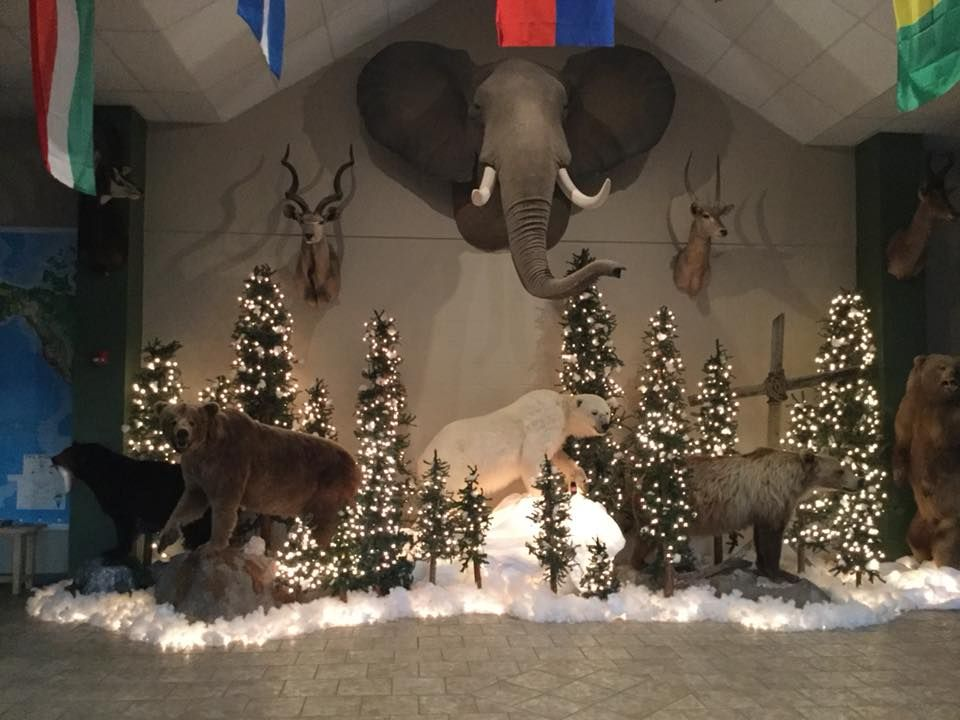 Lobby at Christmastime