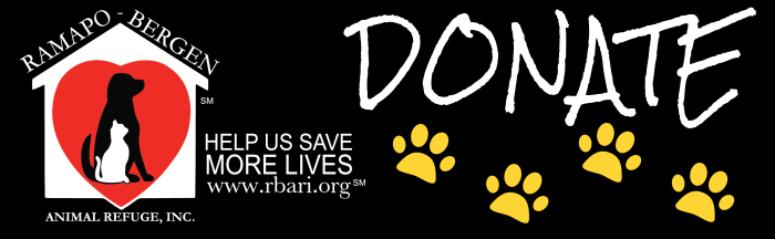 Ramapo-Bergen Animal Refuge, Inc  : Donate : Donate