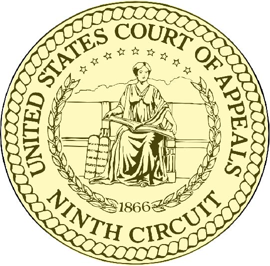 U30128 - Carved 3-D or 2.5-D  Wall Plaque for the Seal of the US Ninth Circuit Court of Appeals