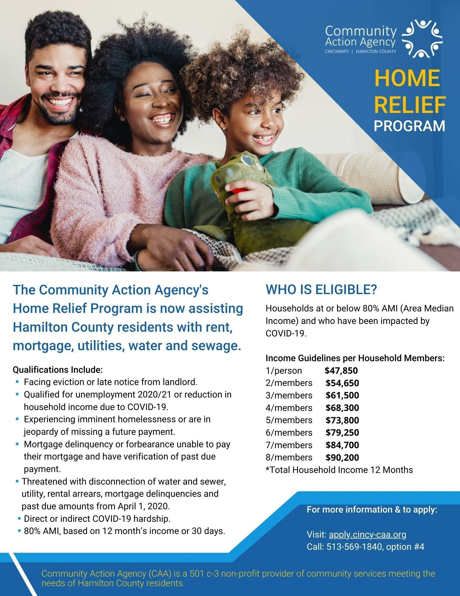 Download and Print our Home Relief Assistance flyer!