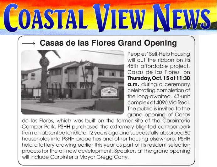 Casas de las Flores Grand Opening - Coastal View News