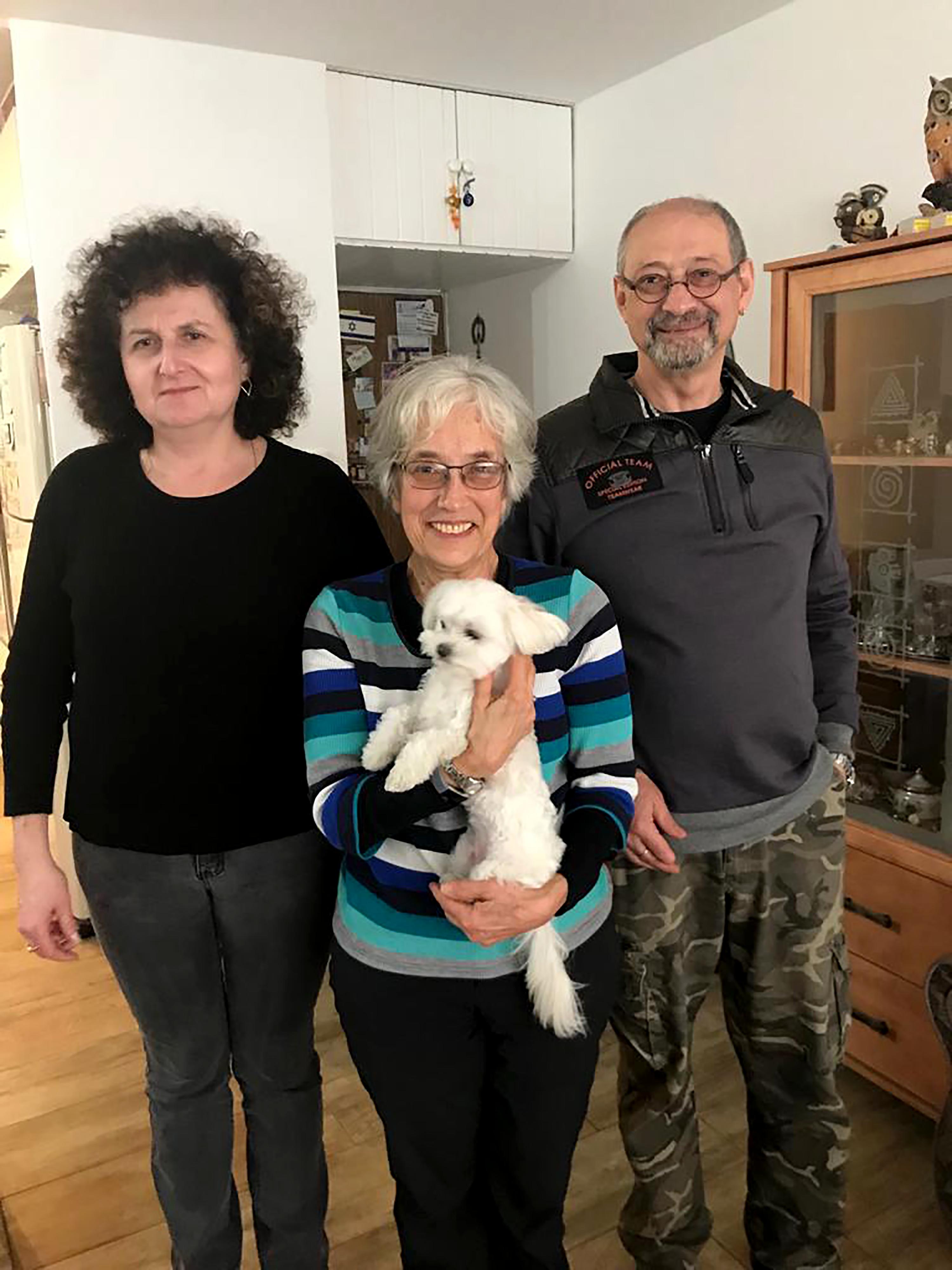 Dina, Zoya, and Boris in January of 2019.