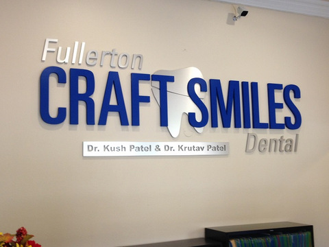 Lobby signs for dental offices in Orange County