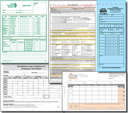 Carbonless or Carbon Interleaved Business Forms