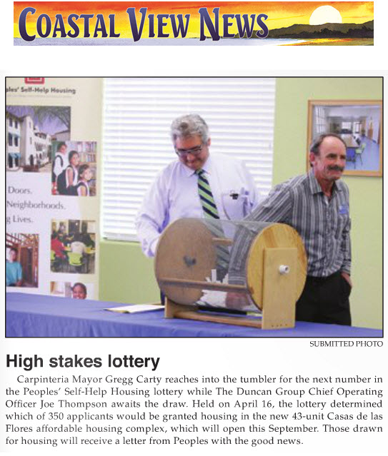 High stakes lottery - Coastal View News