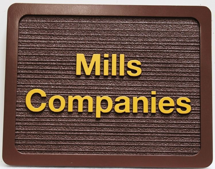 SA28829 - Carved 2.5-D and Sandblasted Wood Grain Sign for the Mills Companies