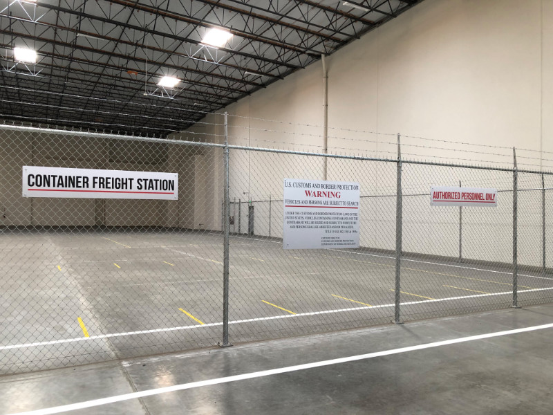 Custom Warehouse Chainlink Signs Los Angeles CA