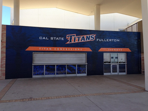 Wall wraps for school gyms and concession stands in Orange County