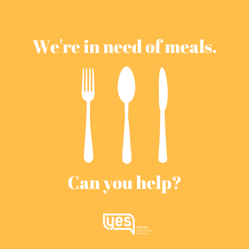 We provide 800 meals a month.