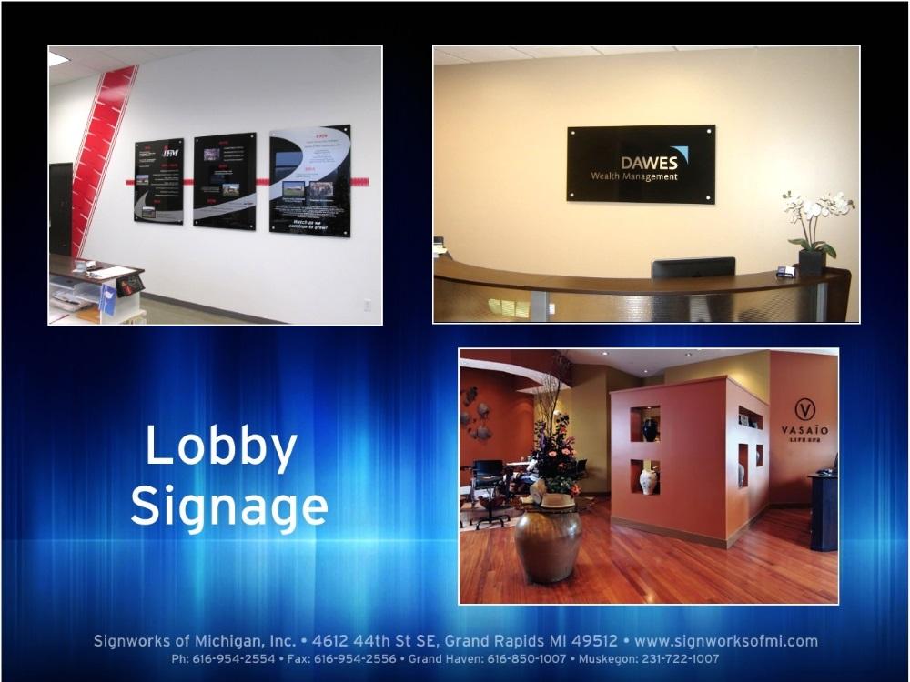 Lobby Signage