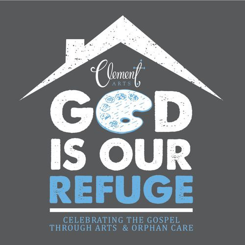 God is Our Refuge Clement Arts logo