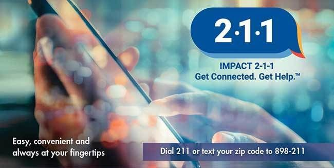 contact impact 211 for resources