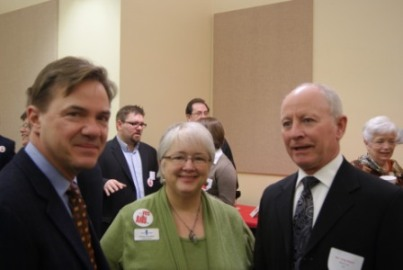 Speaker Adams (right) with constituents
