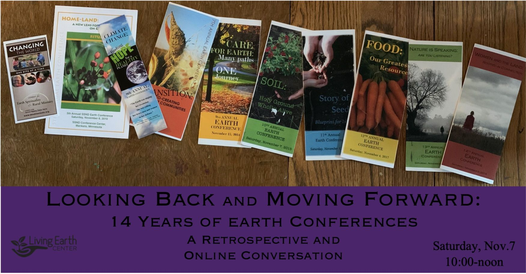 Looking Back and Moving Forward: 14 Years of Earth Conferences